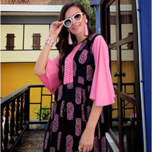 Aradhna Gown Kurtis – Pattern 2 Pink Colour